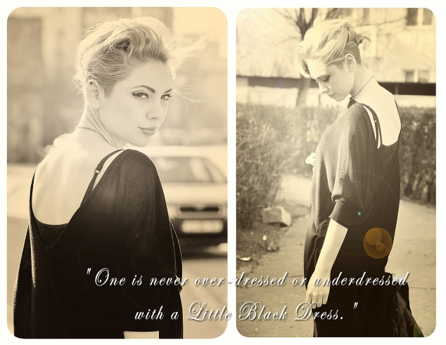 black dress elegance